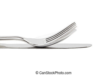 cropped image of fork and knife - Cropped image of fork and...