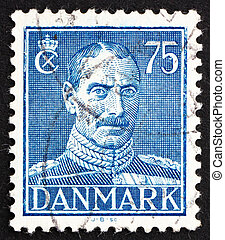Postage stamp Denmark 1946 Christian X, King of Denmark -...