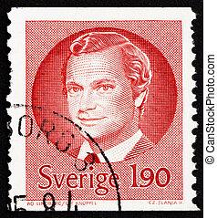 Postage stamp Sweden 1984 Carl XVI Gustaf, King of Sweden -...