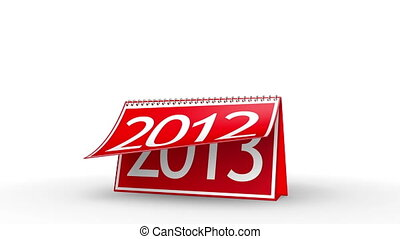 New Year 2013 Calendar (with Matte) - Calendar turning page...