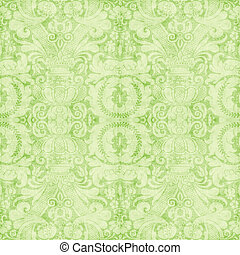 Vintage Light Green Tapestry - Worn light green tapestry...