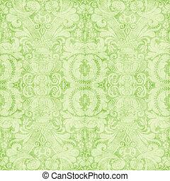 Vintage Light Green Tapestry - Worn light green tapestry...