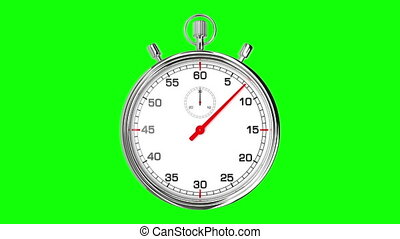 Stopwatch Loop Realtime GreenScreen - Realistic stopwatch...