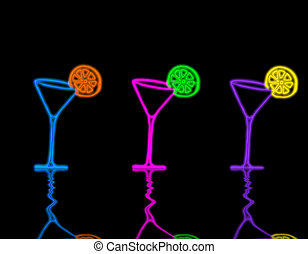 martini glass - picture about pink three martini glasses...