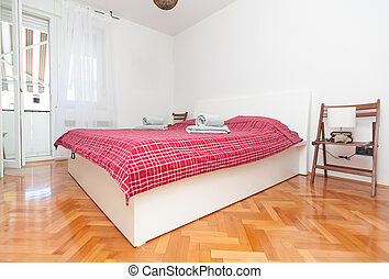 Clean bedroom - Clean and modern mediterannean bedroon in...