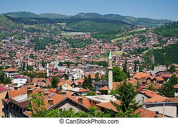 Cityscape of Sarajevo, Bosnia and Herzegovina