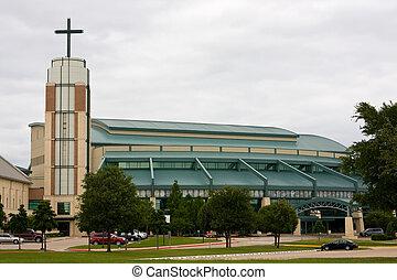 Modern Suburban Church - Large modern style suburban...