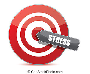 Target stress bulls eye illustration design over white