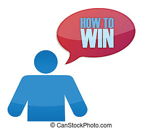 icon with a how to win message illustration design