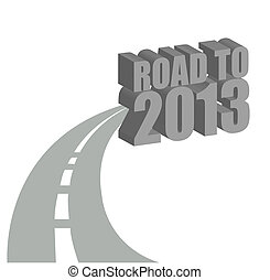 road to 2013 illustration design