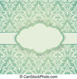 Vintage card with damask pattern Luxury illustration