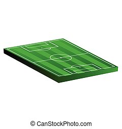 soccer field vector illustration on a white