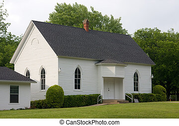 Rural Church - Simple wooden church in a rural setting.