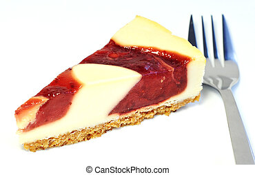 Dessert - Delicious cheesecake with berries sauce