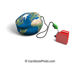Oil depletion - Concept of oil depletion with illustration...
