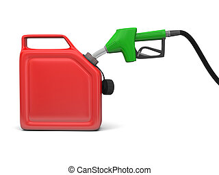 Petrol pump and jerry can - Illustration of green fuel pump...
