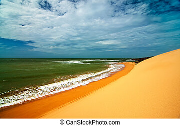Colombian Coast - A view of the Colombian coastline in La...