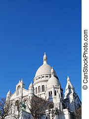 Sacre coeur church - view of the famous Sacre coeur church...