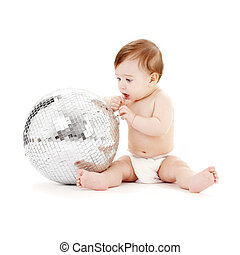 glitterball baby - adorable baby boy with big glitterball...