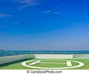 Helicopter Pad on roof top building