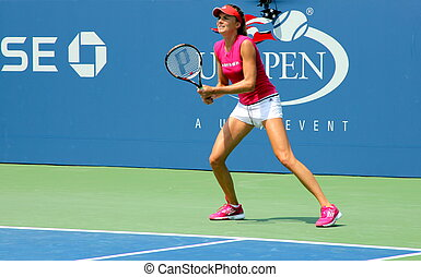 Daniela Hantuchova practices - FLUSHING, NY - AUGUST 23:...