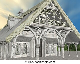 Fantasy Building - 3D Render of an Fantasy Building