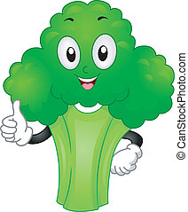 Broccoli Mascot - Mascot Illustration Featuring a Broccoli...