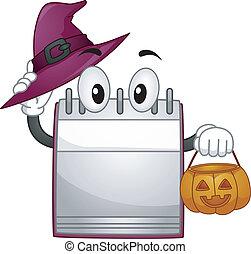 Halloween Calendar Mascot