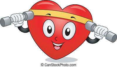 Heart Mascot Exercise - Mascot Illustration Featuring a...