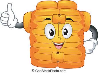 Life Vest Mascot - Mascot Illustration Featuring a Life Vest...