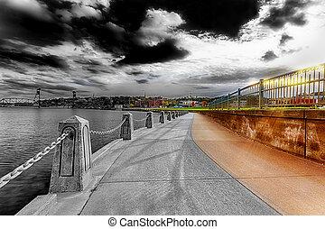 Path Along St. Croix River - Multi-Color Image of Path Along...