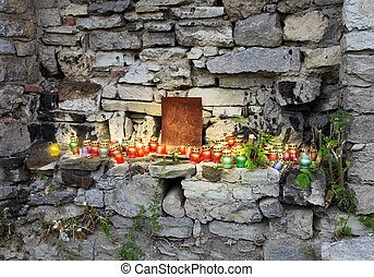 Prayer Place Made by Ukrainian Local Residents - Prayer...