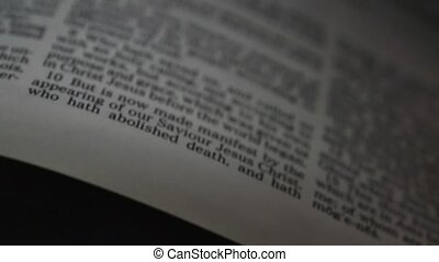 Bible 2nd book of Timothy - A slow shallow depth of field...