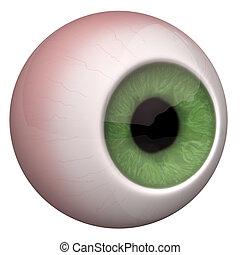 Eye Oculus - 3d illustration of the eye on the white...