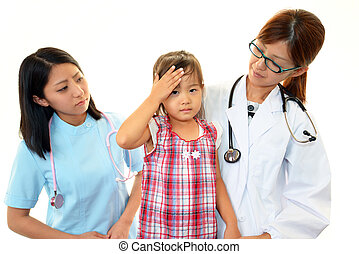 Medical professional with child - Female medical...