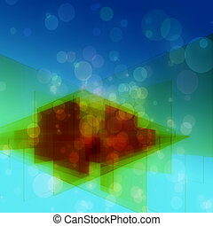 Futuristic technology background design with bubbles