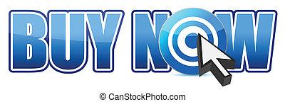 Buy now target illustration design