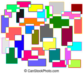 saturated colors network background