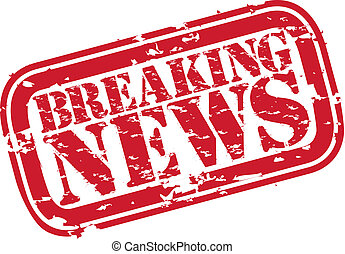 Grunge breaking news rubber stamp,vector