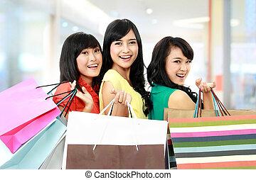 shoppen, zusammen