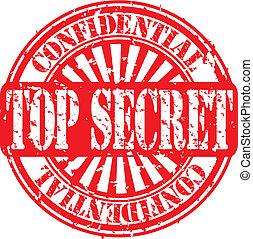 Grunge top secret rubber stamp, vec