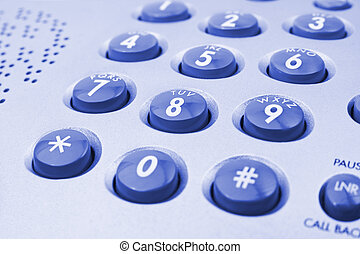 Phone keypad - Macro of phone keypad - business background