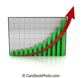 Increase profit - Graph showing the increase profit isolated...