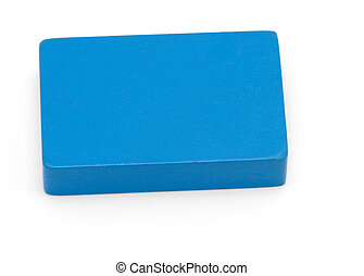 Toy shapes - Blue Rectangle - Isolated shot of children\\\'s...