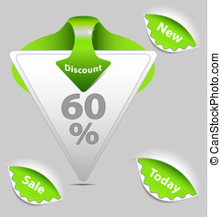 Green discount sale labels