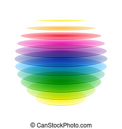Rainbow sphere vector illustration