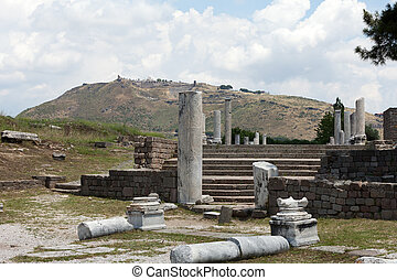 Asclepeion ancient city in Pergamon, Turkey.