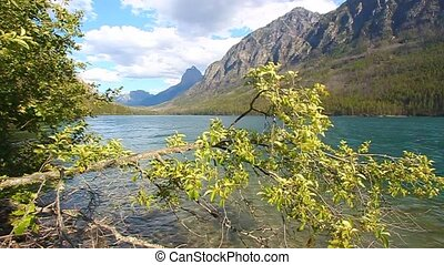 Kintla Lake Glacier National Park - Mountains rise steeply...