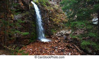 Lower Memorial Falls in Montana - Lower Memorial Falls in...