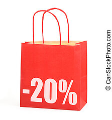 shopping bag with -20% sign